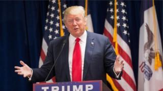 Donald Trump durante discurso