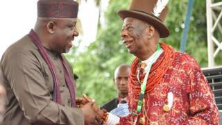 Rochas Okorocha na eze ndị Ogoni, King Godwin Gininwa