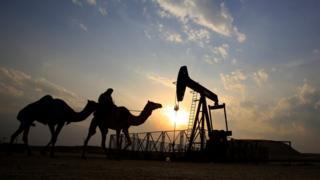 Campo de petróleo no Oriente Médio