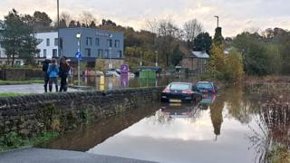 Flooding in Matlock Bath