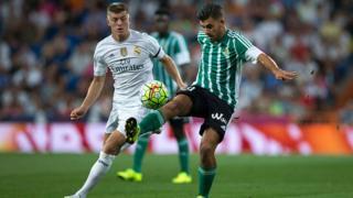 Dani Ceballos lors d'un match de Liga contre le Real Madrid