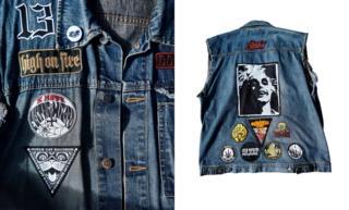 A sleeveless battle jacket