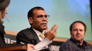 मालदीव के पूर्व राष्ट्रपति मोहम्मद नशीद