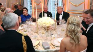 Donald Trump and Theresa May among the dinner guests