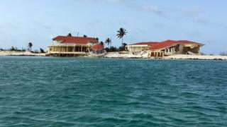 Wreckage of a building in Barbuda