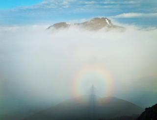 The phenomenon of the Brocken Spectre, taken by Anthony Jackson at the Rest and Be Thankful Corbetts on Sunday morning