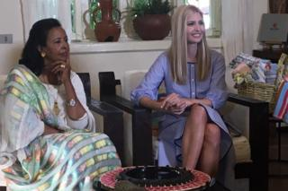 Ivanka Trump and Sara Abera, founder of the workshop