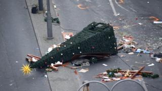 Берлинская рождественская ярмарка после атаки