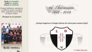 Página web del colegio Sociedad Escolar y Deportiva Alemana en Buenos Aires.