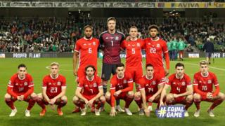 Wales team for last Tuesday's game