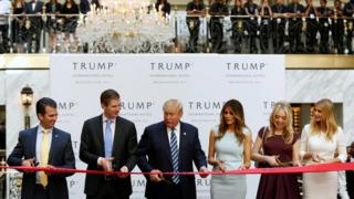 Trump family at hotel