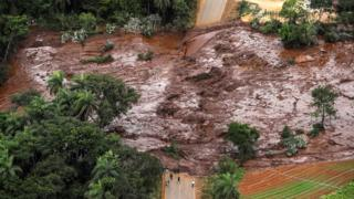 Aftermath of the dam burst in Brazil, 26 January 2019