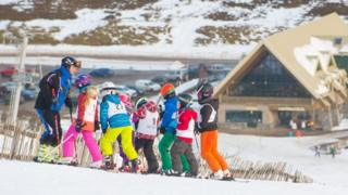 Young skiers at The Lecht
