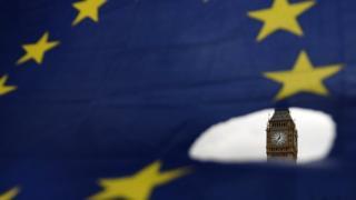 پرچم اتحادیه اروپا و بیگ بن