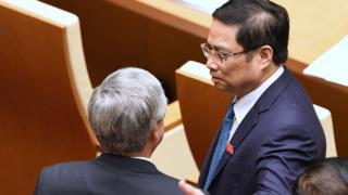 Ông Phạm Minh Chính tại cuộc hội Quốc hội lần thứ hai hồi tháng 10/2017