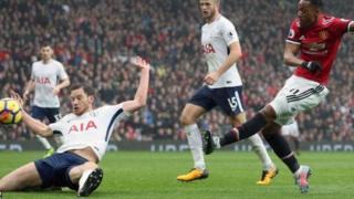 Man United yafufuka na kuilaza Tottenham Hotspurs