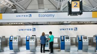united airlines checking
