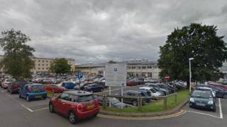 Glangwili Hospital car park