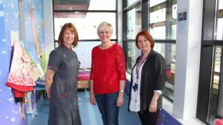 Left to right: Ward matron Helen Morris, Paula Banks, and Anna Shepherd from The Grand Appea