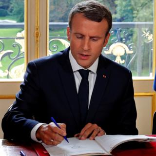Mr Macron signs labour reforms into law (22 Sept)