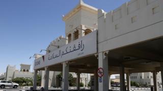 The Qatari side of the Abu Samrah border crossing between Saudi Arabia and Qatar, 20 June 2017