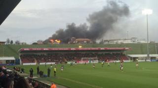 Sixfields Tavern on fire