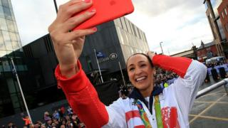 Jess Ennis Hill at Team GB parade
