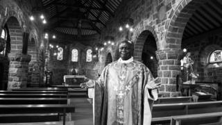 Father John Bosco Bukomba, originally from Uganda, is the father of The Church of Our Lady of Seven Sorrows, Dolgellau.