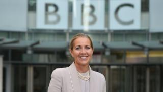 Rona Fairhead outside New Broadcasting House in October 2014