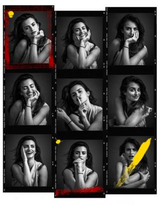 Penelope Cruz poses for portraits