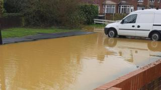 Flooding on Cressing Road