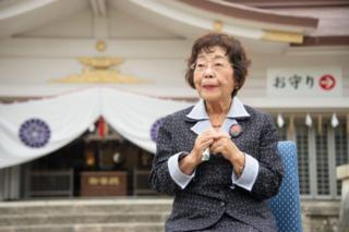 Bà Teruya Naeko, cựu chủ tịch Hội gia đình nạn nhân chiến tranh Okinawa