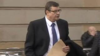 The Reverend Peter McConnell arriving at a previous court hearing