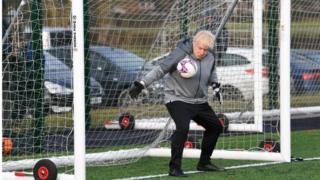Boris Johnson in goal