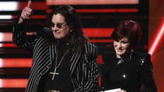 Ozzy and Sharon Osbourne presented at last month's Grammy Awards