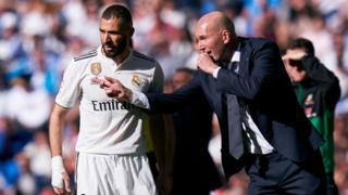 Karim Benzema and Zinedine Zidane