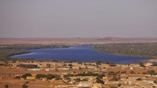 Discover of Karima metropolis and tge River Nile in Sudan on March 6, 2013