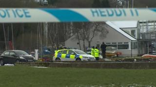 Police cordon at scene