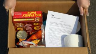 A government food parcel