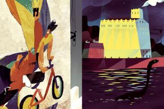 Мозаичные панно советского периода, проспект Победы (Л) и мельница Бродского, Почтовая площадь (П)