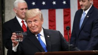 US President Donald Trump delivers his State of the Union address to a joint session of the US Congress