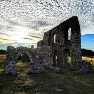 The ruins of Dunwich Greyfriars monastery in Suffolk