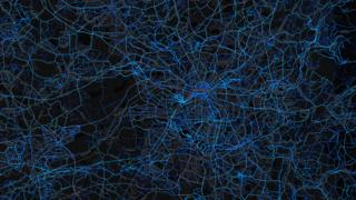 Manchester - running routes (by Strava users 2015)