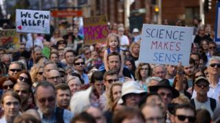 澳大利亞悉尼的遊行群眾。