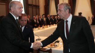 Ankara Büyükşehir Belediye Başkanı Mansur Yavaş ve Cumhurbaşkanı Erdoğan