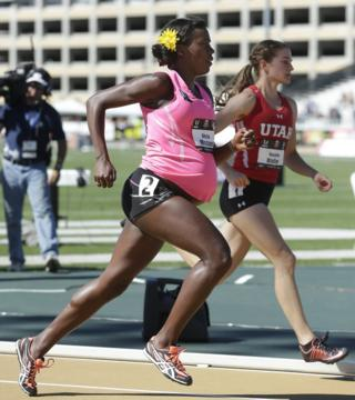 Alysia Montano competing eight months pregnant in 2014