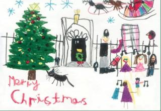 Christmas card designed for Theresa May by Isabelle Milnes, from her constituency