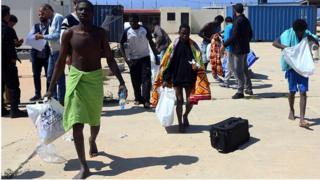 Des ressortissants africains rescapés du naufrage qui a enregistré 97 disparus dans la Méditerranée