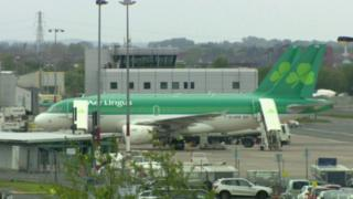 Aer Lingus planes at Belfast City Airport