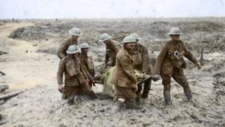 Stretcher bearers at Passchendaele 100 years ago